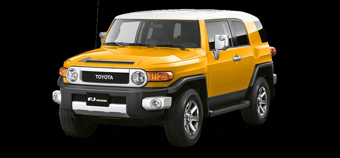 Camioneta 4x4 FJ Cruiser color amarillo