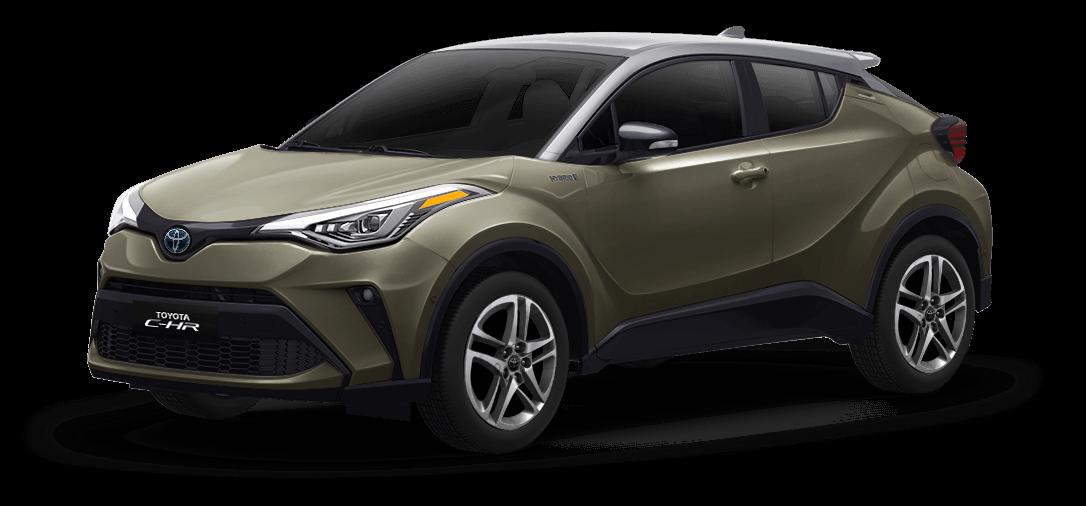 Toyota chr color Gris Diamante / Bronce Oliva vista exterior de la camioneta