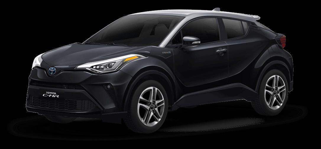 Toyota chr color Gris Diamante / Negro Metálico vista exterior de la camioneta