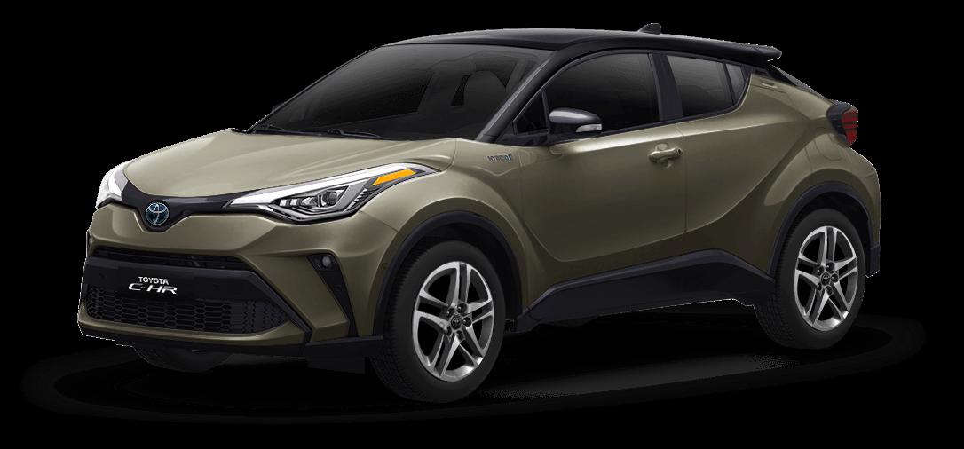 Toyota chr color Negro / Bronce Oliva vista exterior de la camioneta