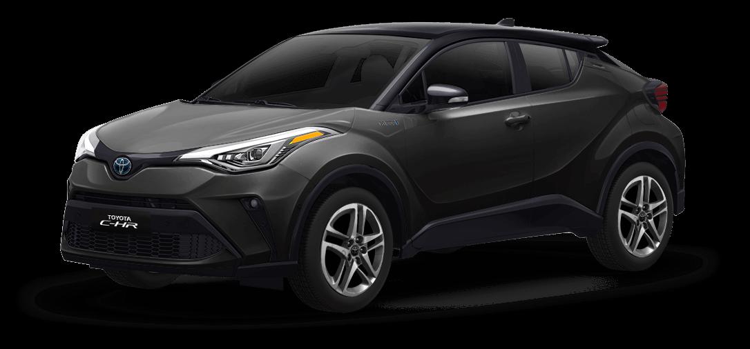 Toyota chr color Negro / Gris Oscuro Metálico vista exterior de la camioneta