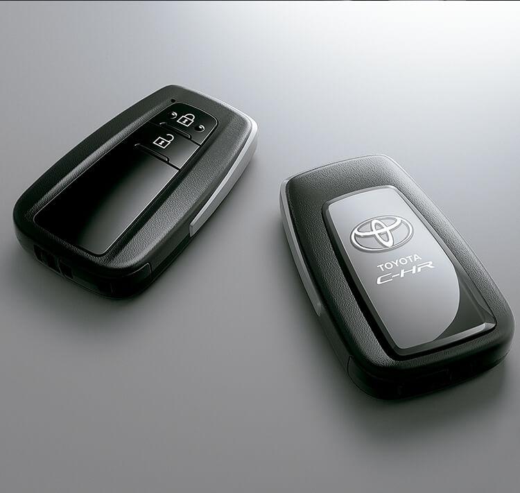 Toyota chr controles de mando manuales negro y gris