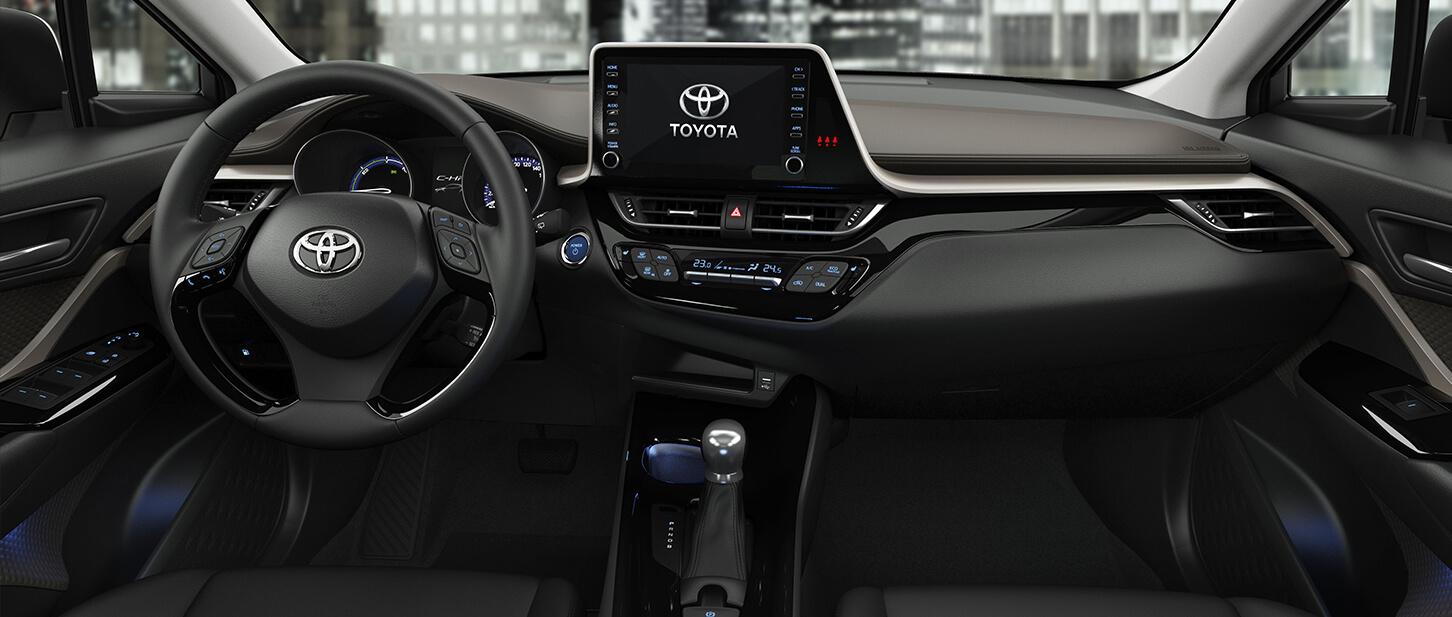 Toyota chr interior  del climatizador dual de la SUV