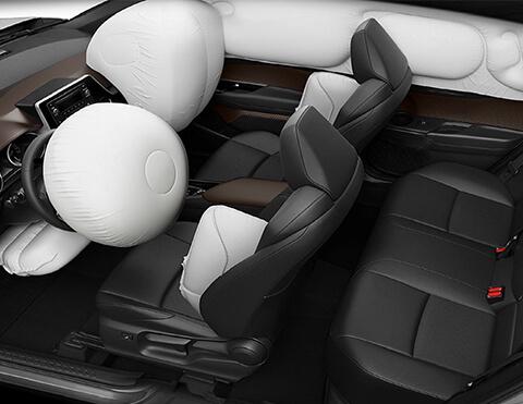 Toyota chr interior con 7 bolsas de aire srs activas