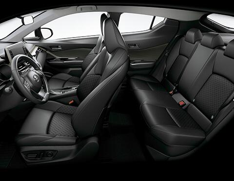 Toyota chr interior vista panorámica lateral