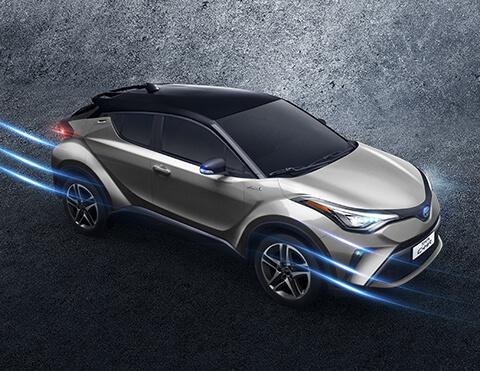 Toyota chr exterior vista panorámica lateral superior