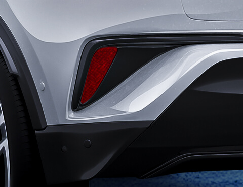 Toyota chr exterior vista de faros posteriores led secuenciales