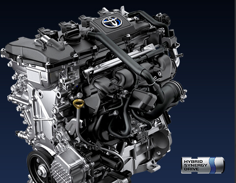 Toyota chr imagen del motor híbrido 1.8l