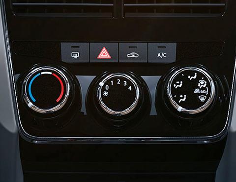 Aire acondicionado del nuevo auto Toyota Yaris