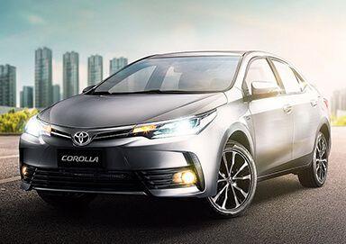 Auto Corolla Toyota gris