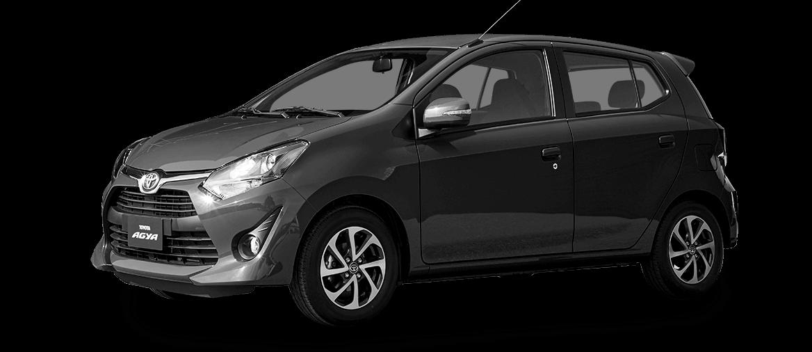 Automóvil Toyota Agya gris oscuro