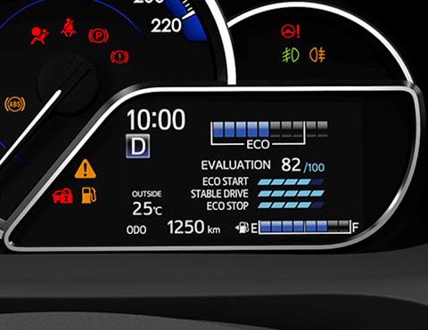 Autos con indicadores de ahorro de combustible | Toyota Yaris