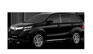 Camioneta toyota avanza color negro de perfil lateral