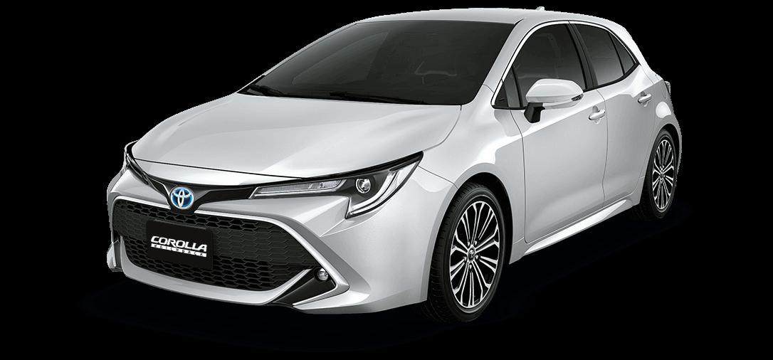 Automóvil Toyota Corolla Hatchback blanco