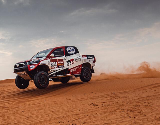 Camioneta deportiva Hilux Toyota Gazooo Racing en Rally Dakar 2021