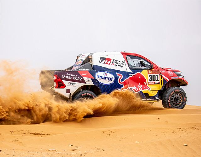 Camioneta Hilux off road de Toyota Gazoo Racing en Dakar 2021