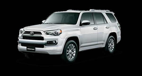 Camioneta Toyota suv 4runner color gris en fotografía lateral