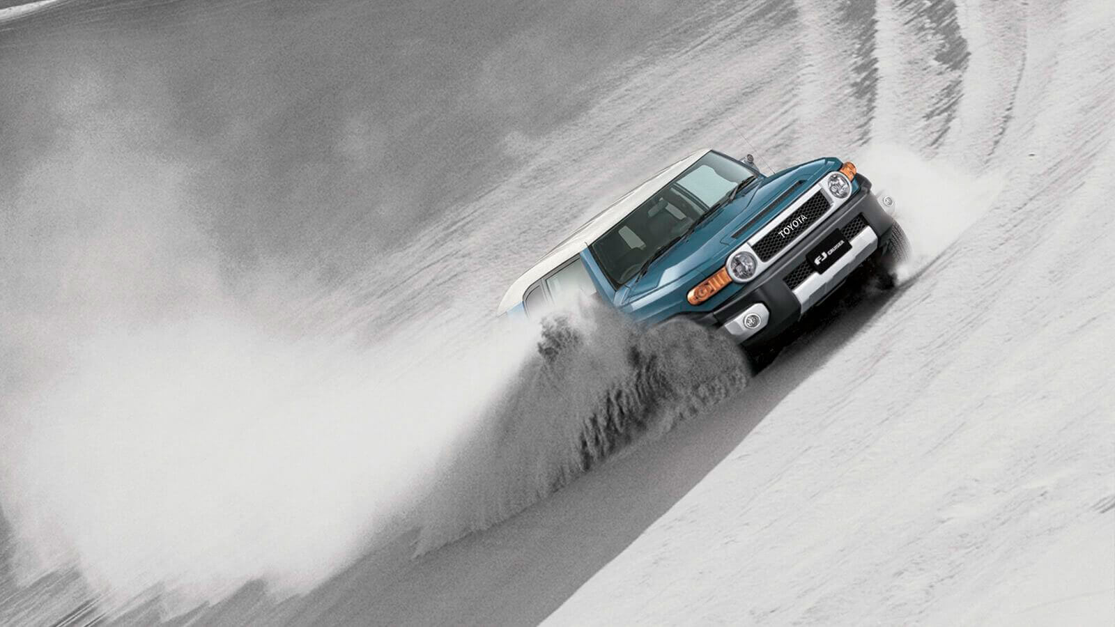 Camioneta Toyota FJ Cruiser azul