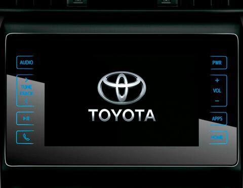 Sistema de audio de la camioneta Toyota Fortuner