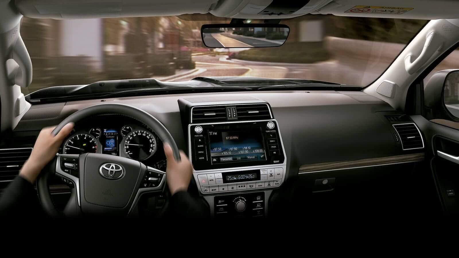 Interior camioneta Land Cruiser Prado Toyota