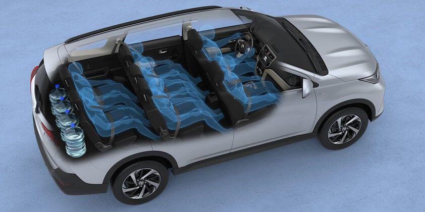 Interior de un Toyota Rush