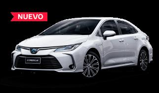 Nuevo automóvil corolla Toyota