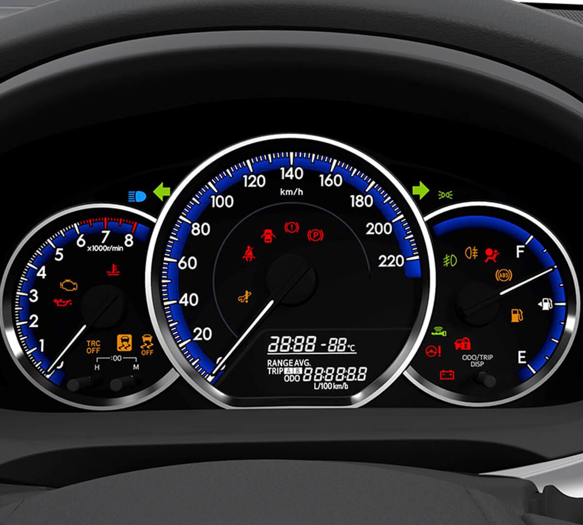 Panel interior del Toyota Yaris 2021- 2022