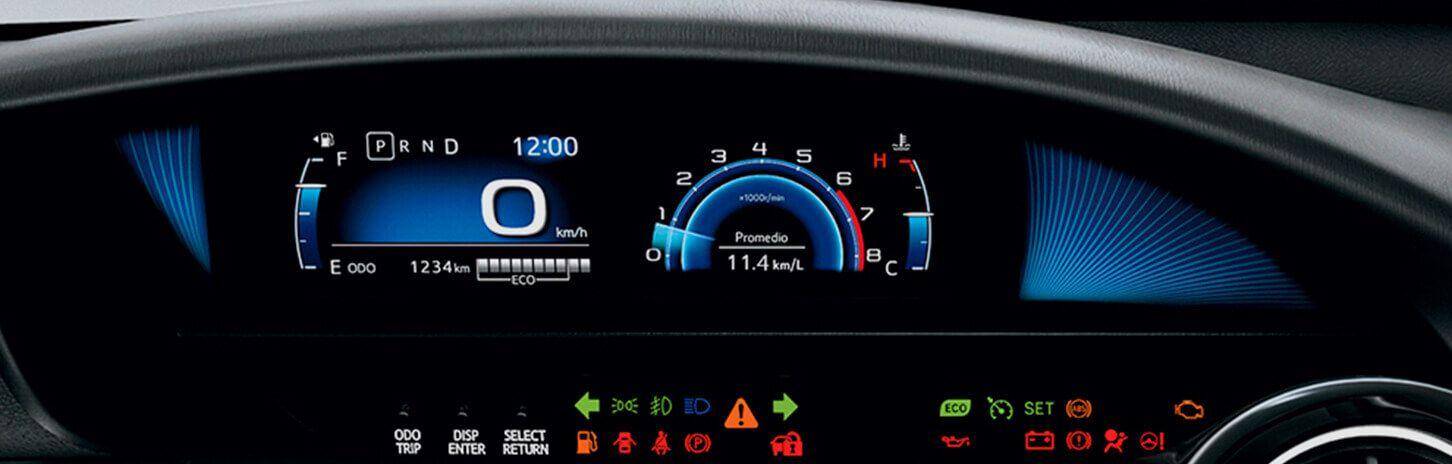 Pantalla de velocidad y aire acondicionado Toyota