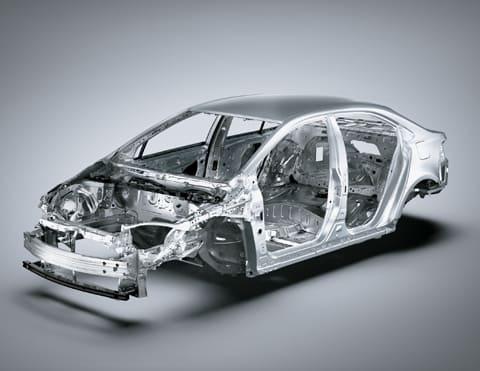 Plataforma de seguridad TNGA del hibrido Corolla Cross