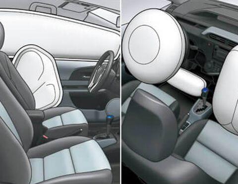 Siete airbags Toyota prius c