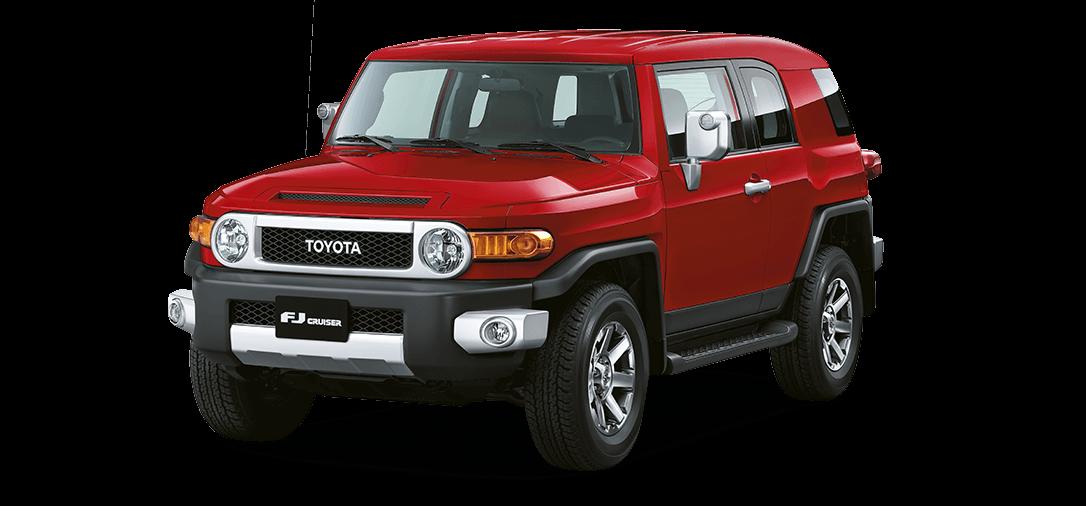 Camioneta Toyota FJ cruiser rojo