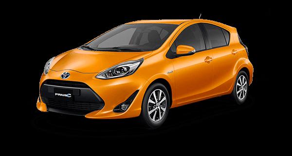 Toyota Prius c naranja