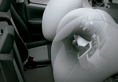 Vista frontal airbag Toyota