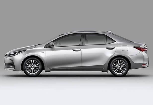 Vista lateral Toyota Corolla